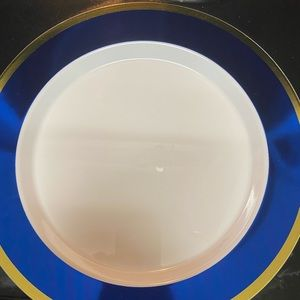 Gold and blue plate